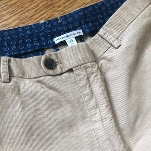 Peter Millar khaki corduroy pants